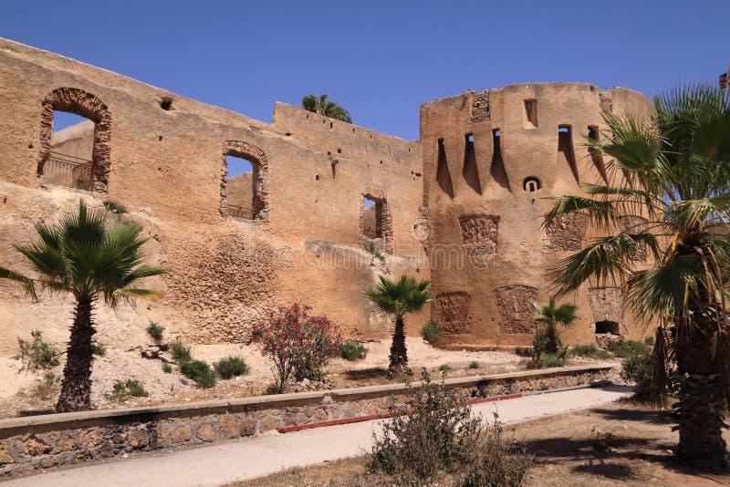 Marokko, EL Jadida, Azemmour Wände stockfoto