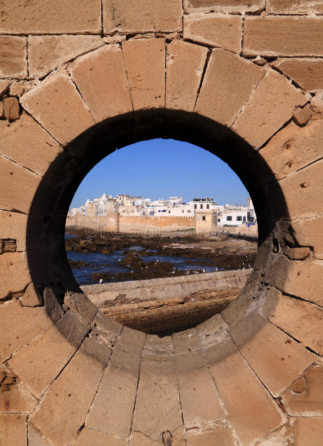 Marokko Essaouira vom Rampart stockfoto