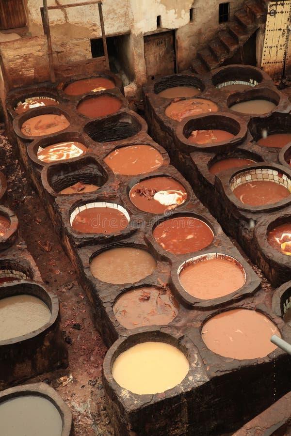 Marokko-Gerberei stockbilder