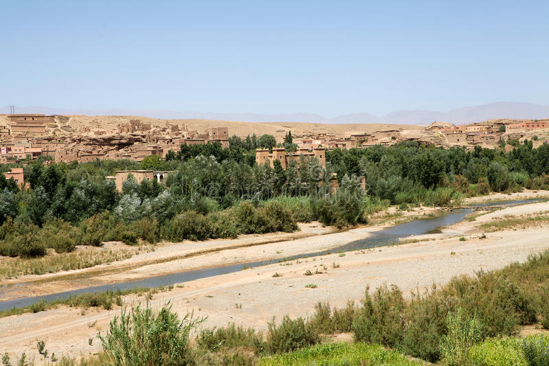 Marokko-landwirtschaftliche Landschaft stockfotos