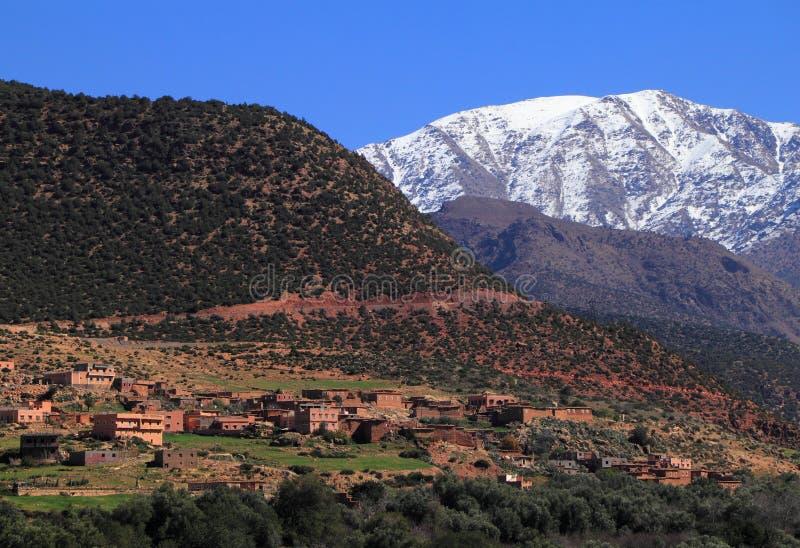 Het Nationale Park Marokko van Toubkal stock afbeeldingen