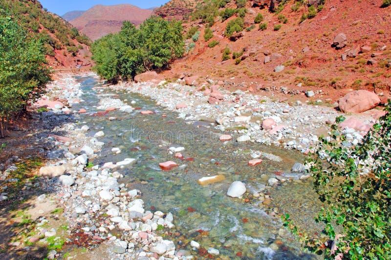 Marokko, Marrakech: landschap van vallei Ourika royalty-vrije stock afbeelding