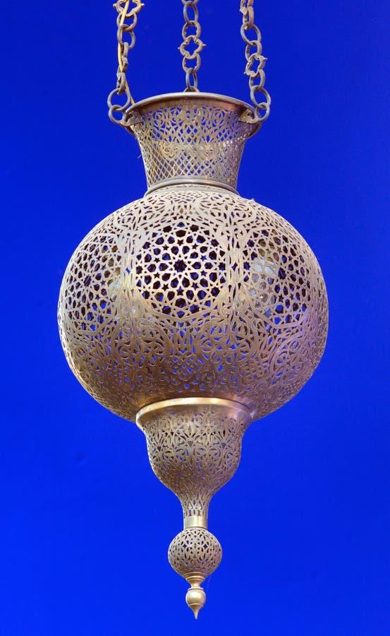 Marokko, Marrakesch: alte arabische Lampe lizenzfreies stockbild