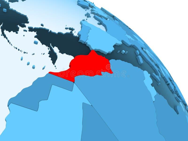 Marokko op blauwe bol royalty-vrije illustratie