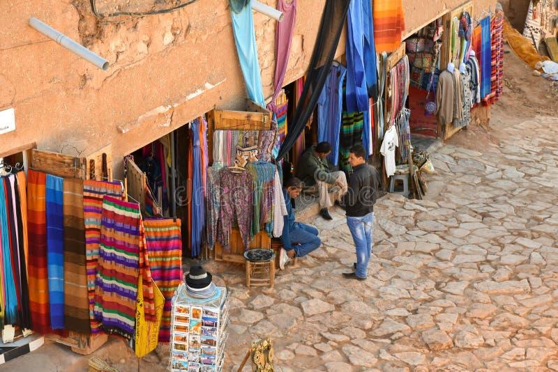 Marokko-Straßenmarkt lizenzfreie stockfotografie
