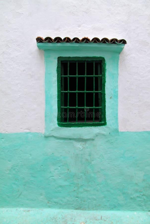 Marokko, Tanger, typisch venster royalty-vrije stock foto's