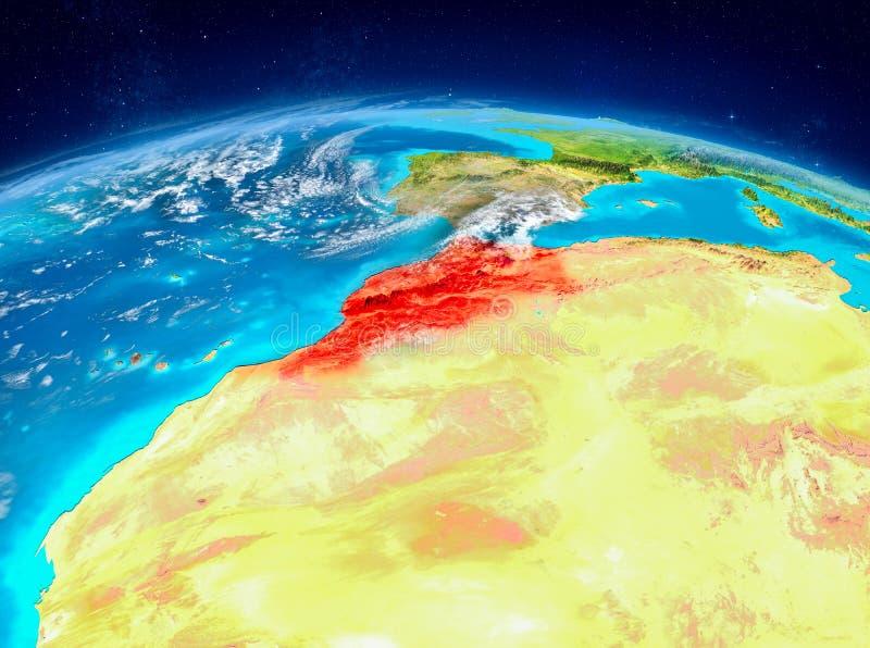 Marokko ter wereld royalty-vrije illustratie