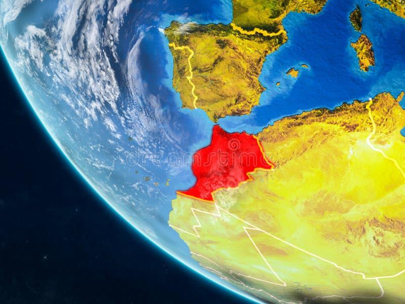 Marokko van ruimte ter wereld royalty-vrije illustratie