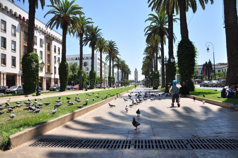 Marokko, vierkant Rabat royalty-vrije stock afbeeldingen