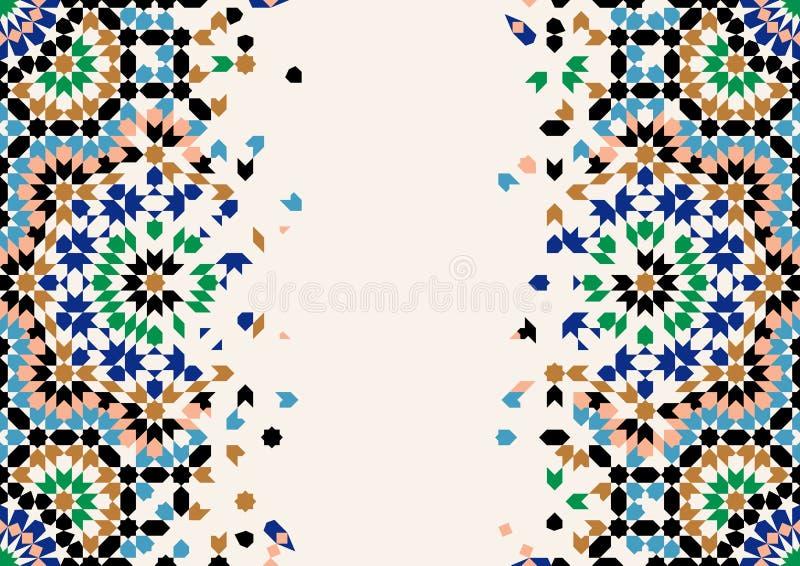 Marokko-Zerfall-Schablone vektor abbildung