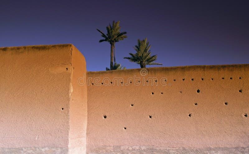Marokkomarrakesch Rampart stockfoto