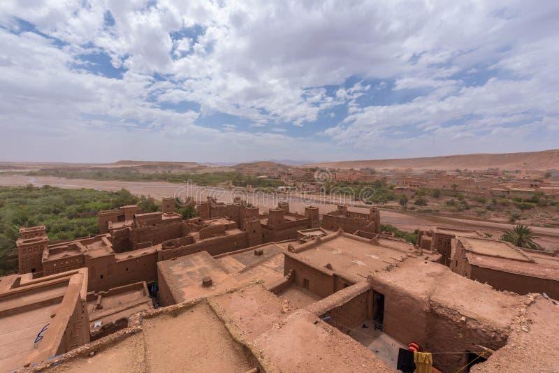 Maroko: ait Ben haddou gra trony fotografia royalty free