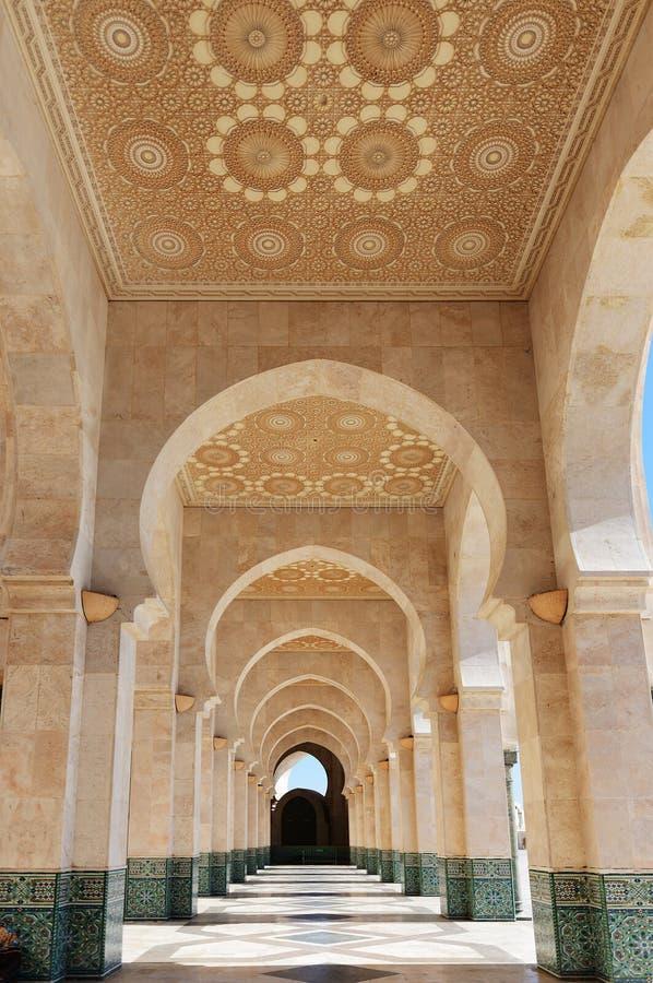Maroko Arkada Hassan II meczet w Casablanca obraz royalty free