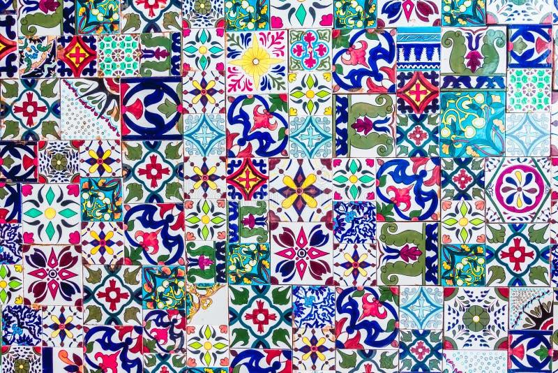 Maroko mozaiki płytek tekstury zdjęcie stock
