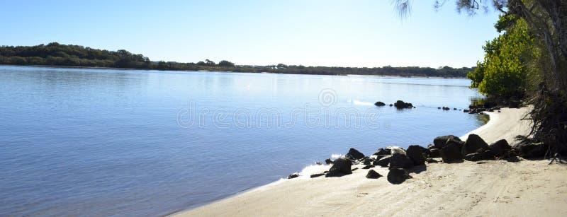 Maroochy flod, solskenkust, Queensland, Australien royaltyfria bilder