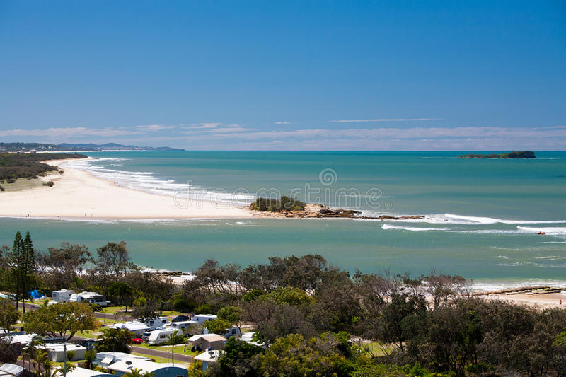 Maroochydore and Twin Waters. Area during the day from Cotton Tree in Sunshine Coast, Australia royalty free stock image