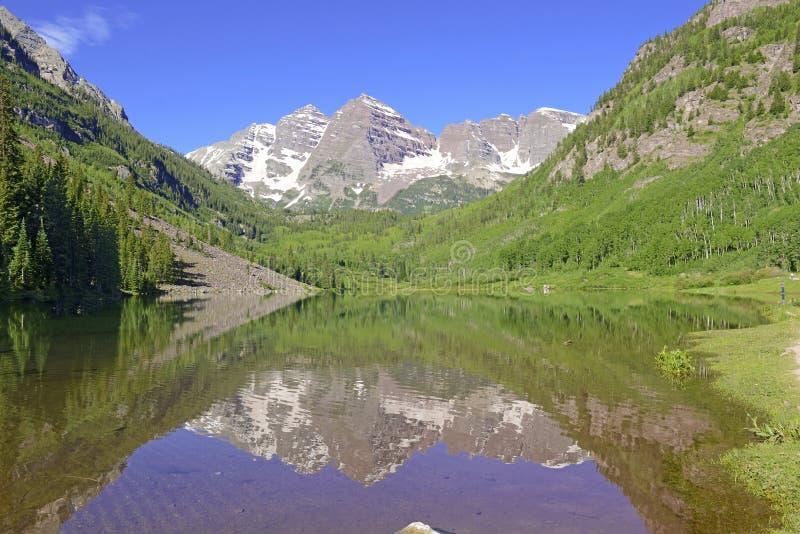 Maroon колоколы, горы лося, Колорадо стоковое изображение rf