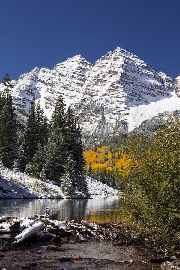 Maroon красавицы Колорадо стоковые изображения rf