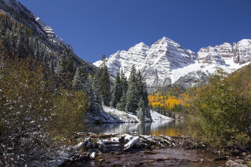 Maroon красавицы Колорадо стоковое изображение