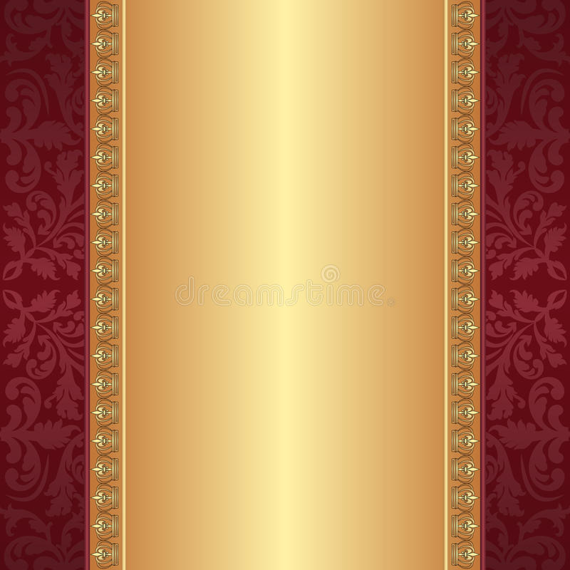 Free Maroon And Gold Background Stock Photo - 29819350