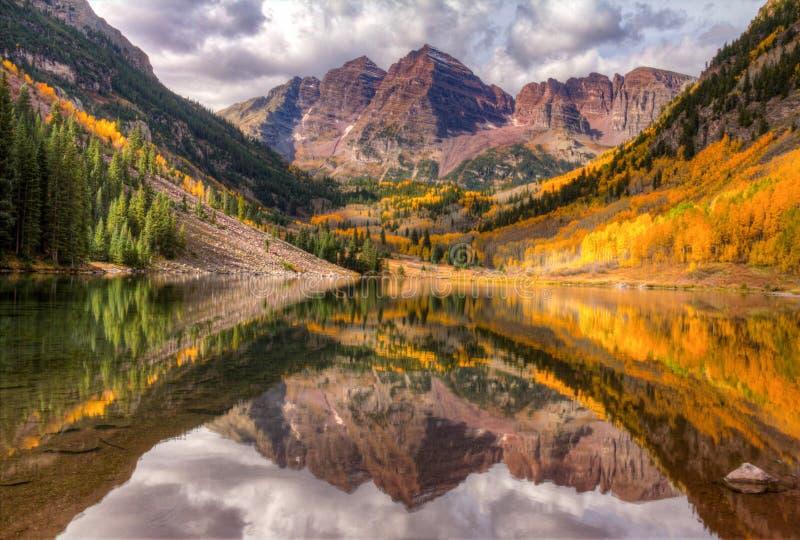 Maroon Bells, Aspen, Colorado stock photography