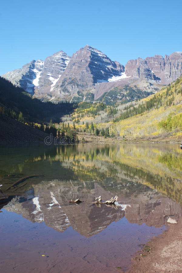 Maroon Bells reflection stock photography