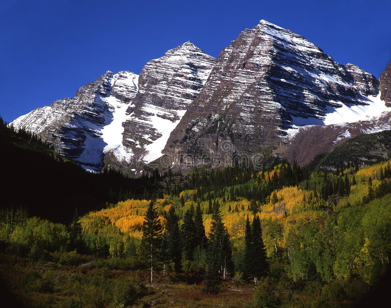 Download Maroon Bells (tight) stock image. Image of leaves, field - 576693