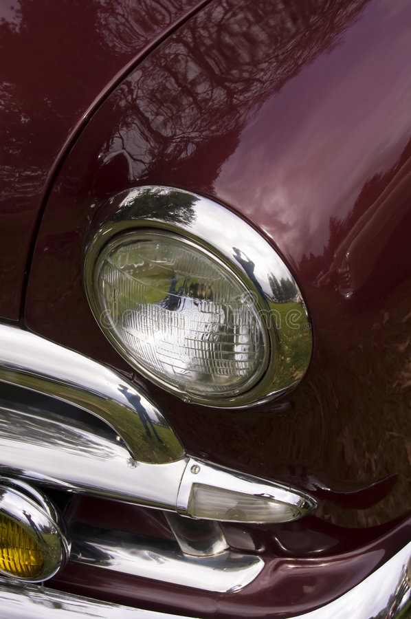 Download Maroon Classic Car stock image. Image of grill, deep, maroon - 8710731