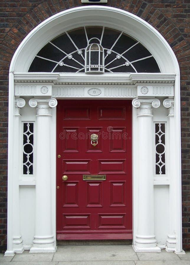 Download Maroon Dublin Door stock photo. Image of half glass house - 463538 & Maroon Dublin Door stock photo. Image of half glass house - 463538