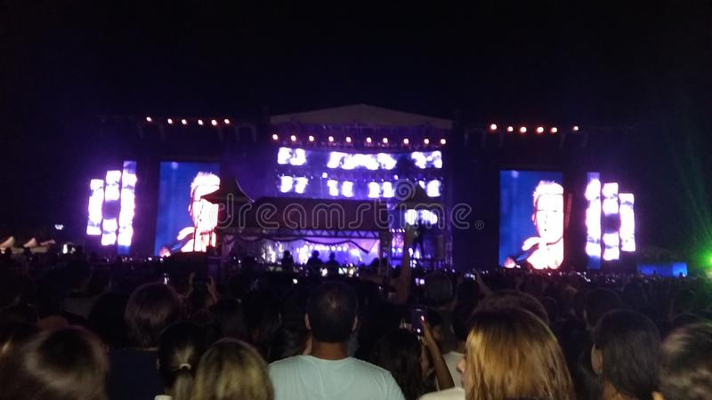 Maroon Five concert in Salvador de Bahia royalty free stock photos