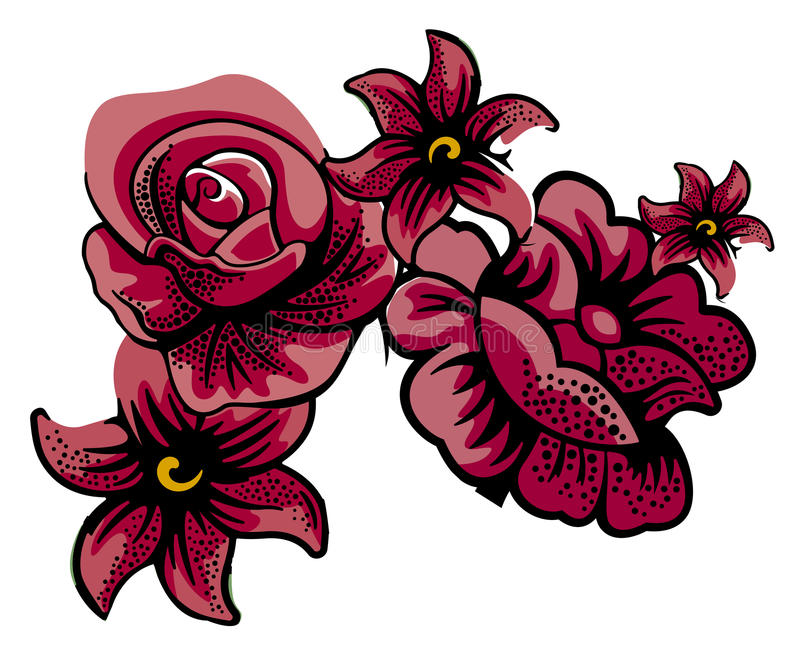 Download Maroon flowers stock illustration. Image of background - 13475613