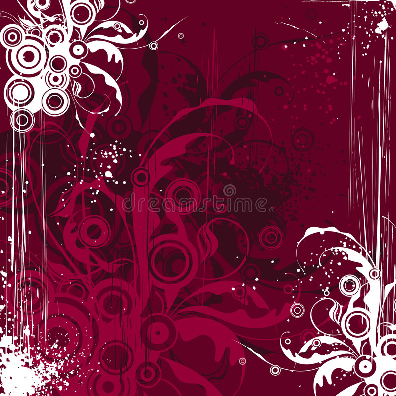 Download Maroon flowers background stock vector. Illustration of colorful - 2294940