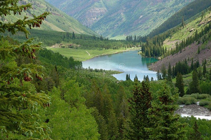 Maroon Lake stock image