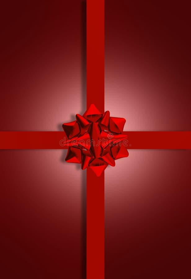 Download Maroon Present Bow stock illustration. Illustration of reward - 25958803