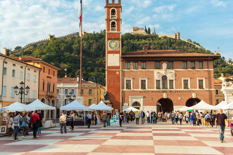 Marostica: chess square view. Color image stock images