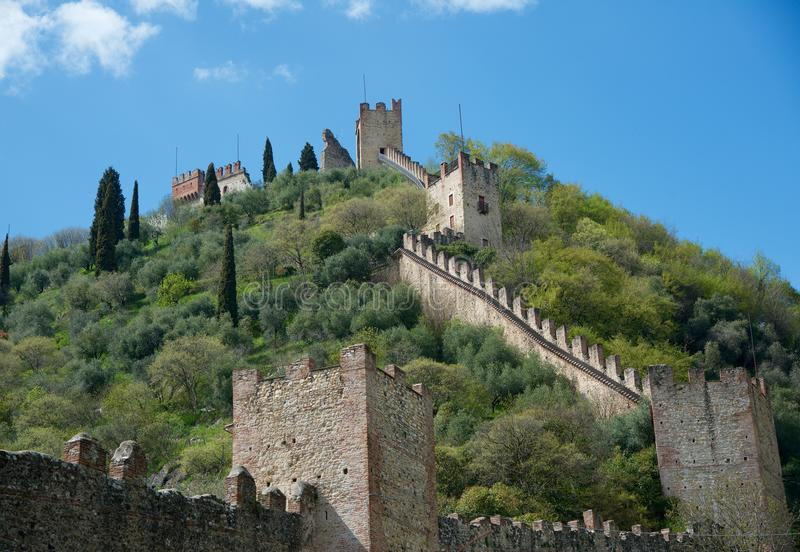 Marostica Vicenza piękny mały miasteczko w Włochy sławnym dla sztuk i historii zdjęcia royalty free