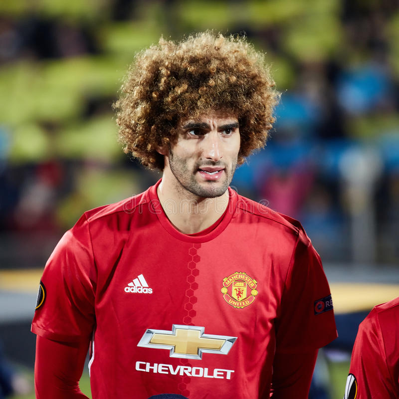 Marouane Fellaini dans des finales du match 1/8 de la ligue d'Europa photos libres de droits