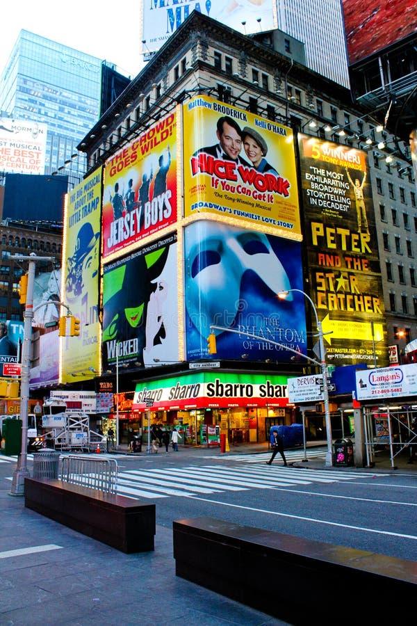 Marqués de Broadway, Manhattan, NYC fotos de archivo libres de regalías