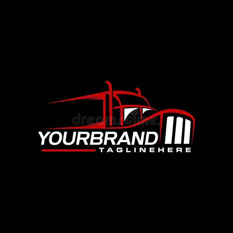 Marquage à chaud de camionnage de conception de logo illustration libre de droits