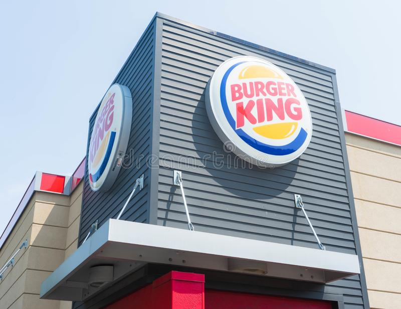 Marquage à chaud et emplacements de Burger King photo stock