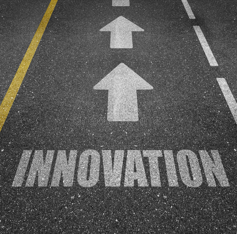 Marquage routier d'innovation photo stock