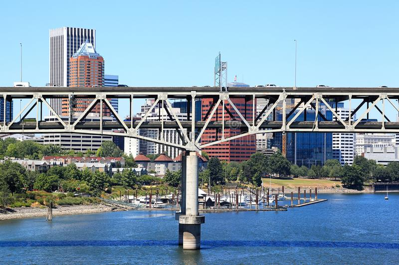 Marquam Bridge, Portland royalty free stock images
