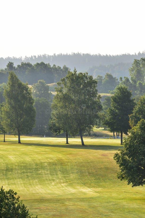 Marque al club de golf del ` s en el kinna Suecia imagenes de archivo