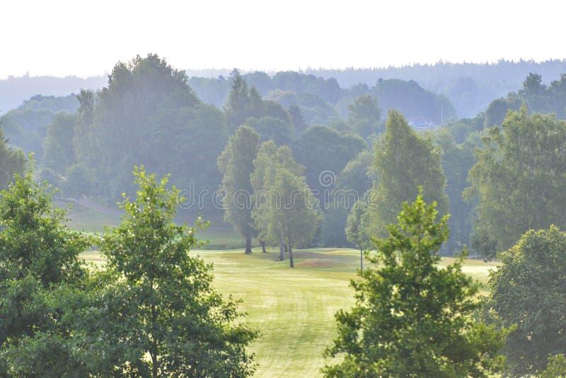 Marque al club de golf del ` s en el kinna Suecia foto de archivo libre de regalías