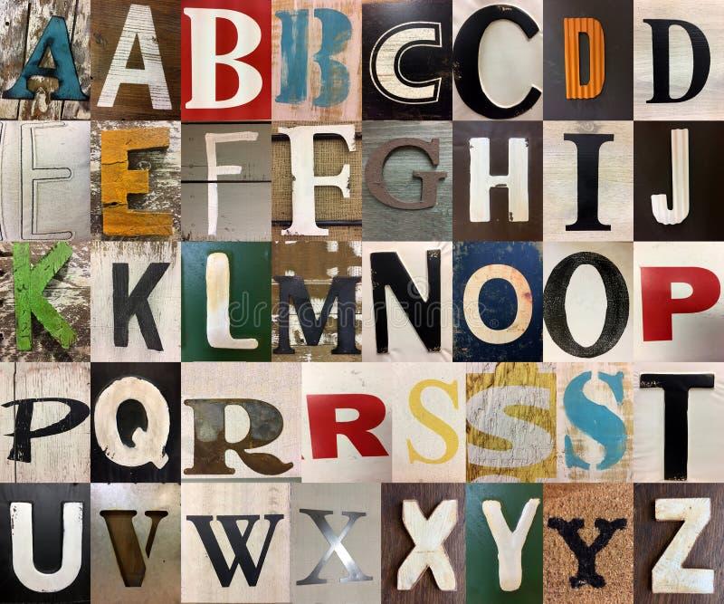 Marque avec des lettres des alphabets capitaux photographie stock libre de droits