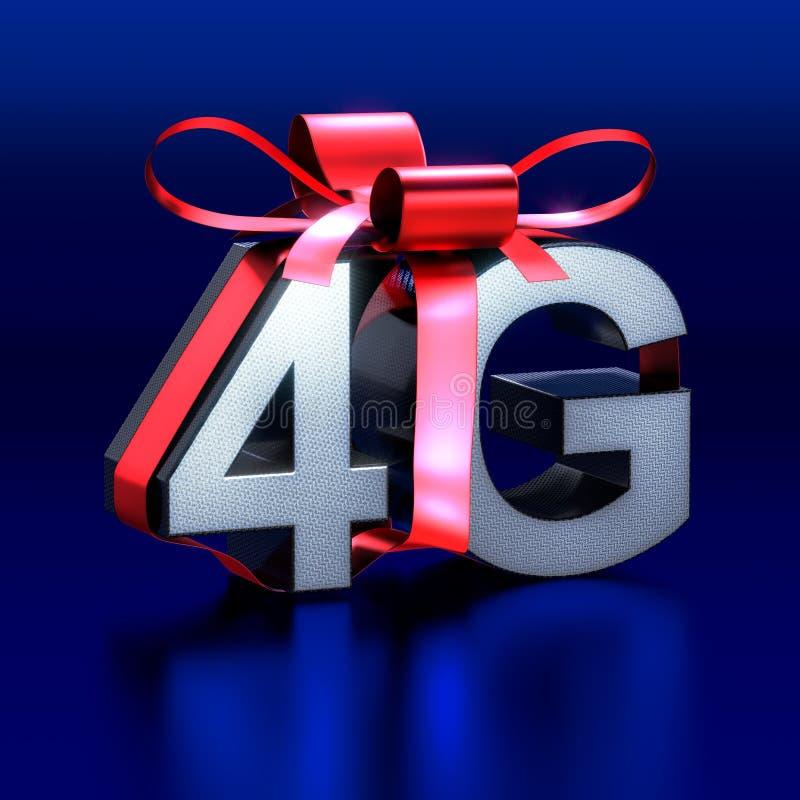 Marque avec des lettres 4G en métal pour offrir comme cadeau illustration libre de droits