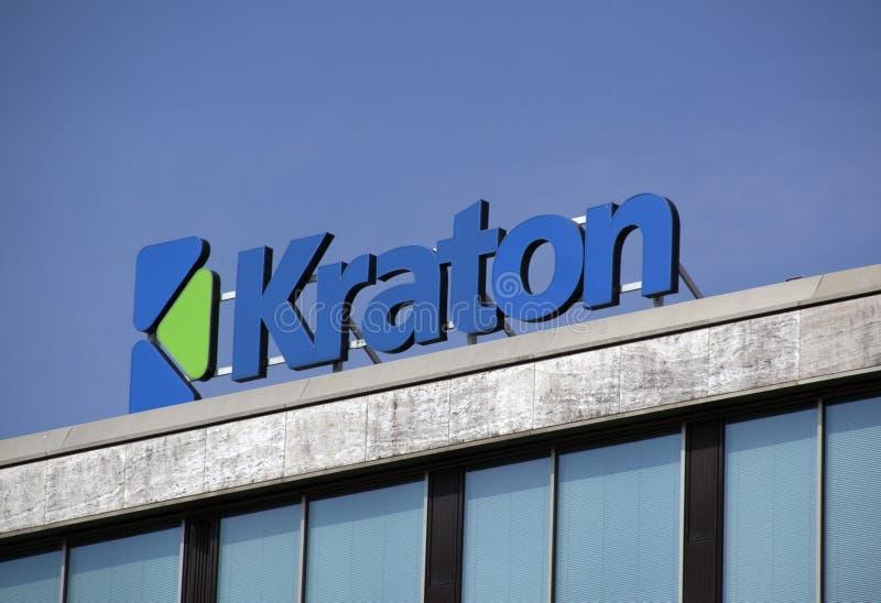 Marque avec des lettres le kraton sur un bâtiment photo libre de droits