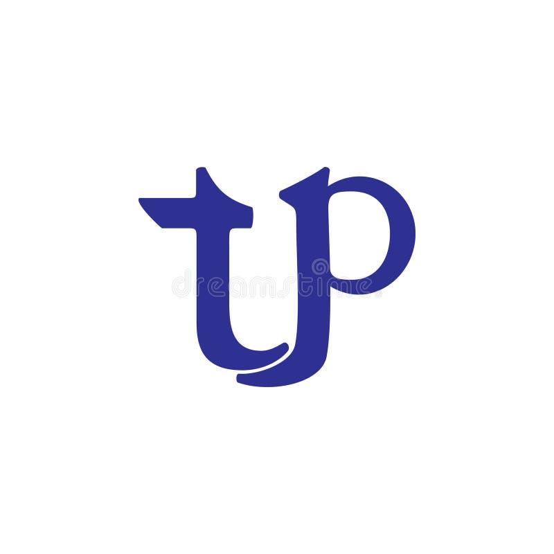 Marque avec des lettres le logo de courbes de t p illustration libre de droits