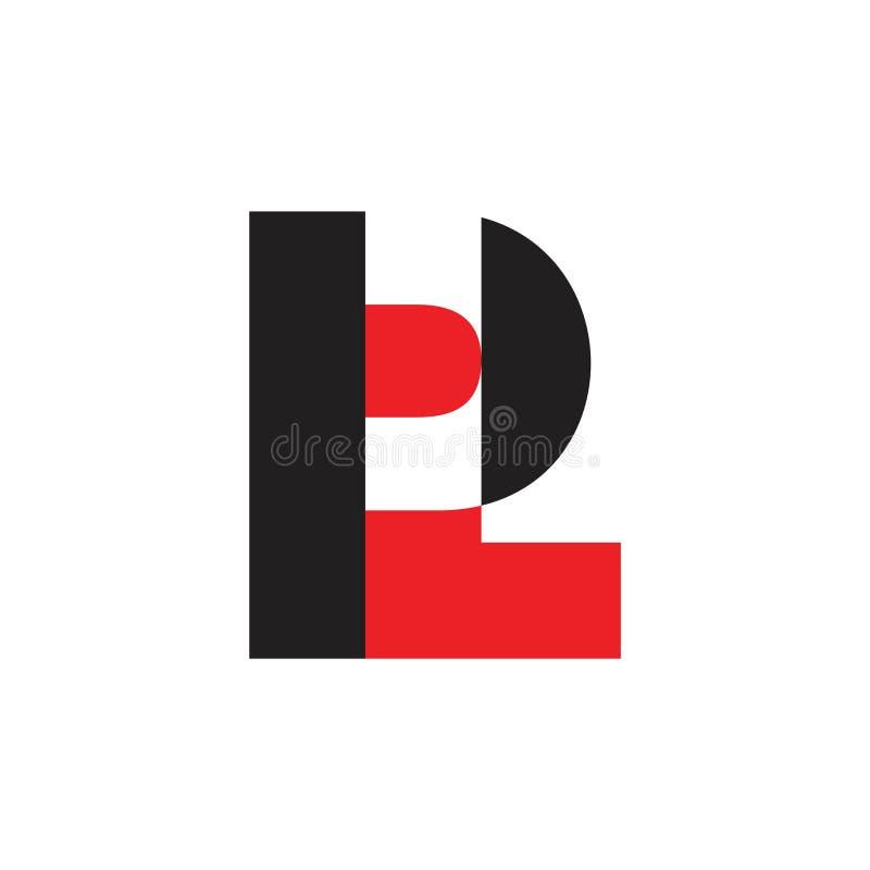 Marque avec des lettres le vecteur coloré de logo de conception de pl illustration stock