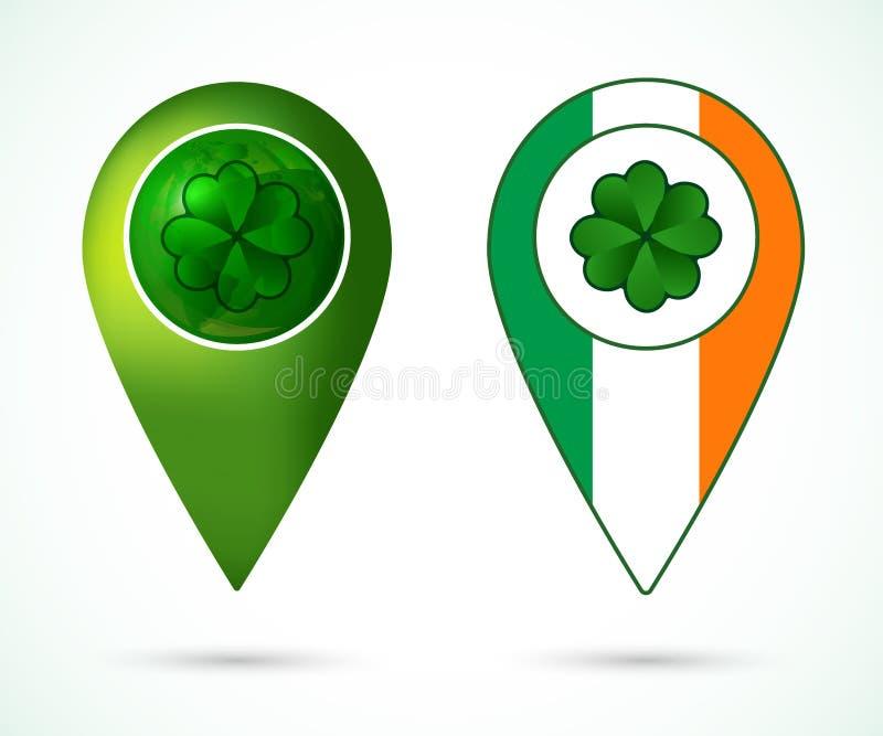 Marque d'emplacement de l'Irlande illustration de vecteur